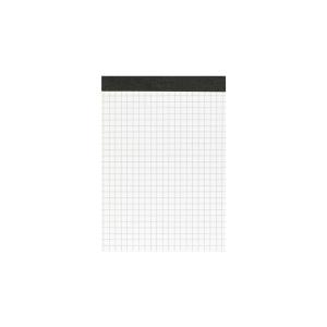 Landré Notizblock A6, 50 Blatt, kariert, grau