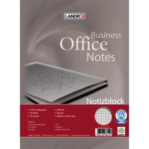 Landré Notizblock A4 Recycling 50Bl kar.