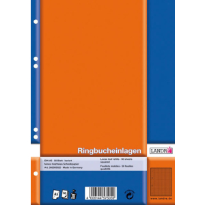 Landré Ringbucheinlage A5 50Bl kariert