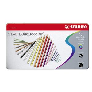 STABILO aquacolor Aquarell-Buntstift - 12er Metalletui