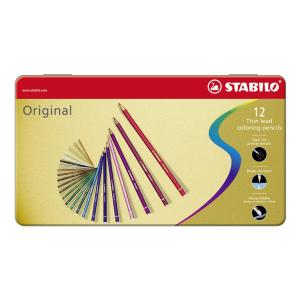 STABILO Original Premium-Buntstift - 12er Metalletui