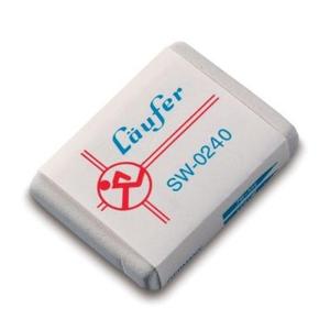LÄUFER Radierer sw, 40x28x7,5mm, für Blei- und...