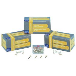 Alco Musterbeutelklammern Rundkopf vermessingt, 2, 15mm