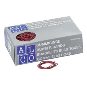 Alco Gummiringe, Ø 85mm, Inhalt 50g, rot