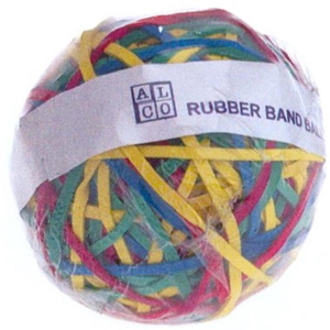 Alco Gummiringe Rubber Band Ball, Ø 70mm, Inhalt 190g,