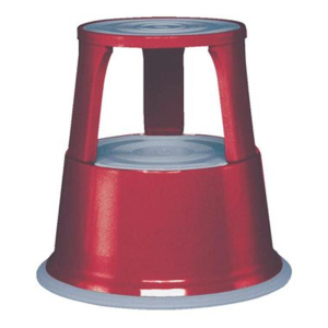 Alco Rollhocker AL STEP, Metall, Ø oben 29 cm rot