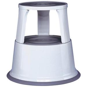 Alco Rollhocker AL STEP, Metall, Ø oben 29 cm grau