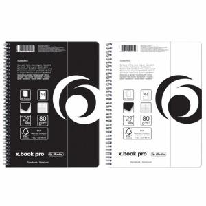 herlitz Spiralblock x.book pro - DIN A4 - kariert -...