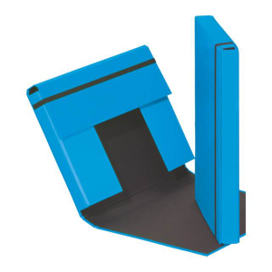 Heftbox A4 3 Klappen + Gummizug hellblau