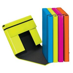 Heftbox A4 3 Klappen + Gummizug lindgrün