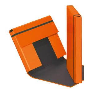 Heftbox A4 3 Klappen + Gummizug orange