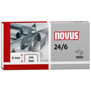 NOVUS-Heftklammern, 24/6, 1000 St./Pack
