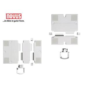 NOVUS-Erweiterungsplatten für Schwenkarm,lichtgrau