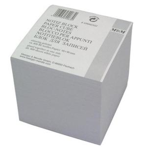 Metzger & Mendle Notizklotz, weiß,  9x9x9cm,...