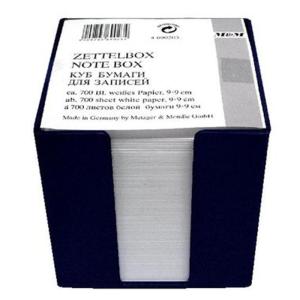 Metzger & Mendle Zettelbox schwarz, 10x10x10cm, 800...