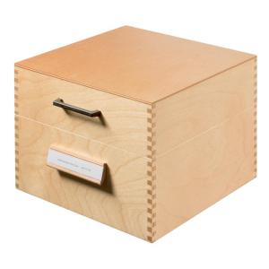 HAN Karteikasten Holz natur, 25,5x25x19,0cm, A5 quer,
