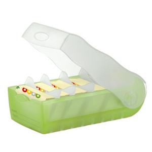 HAN Croco Lernkarteibox - DIN A7 quer - grün...