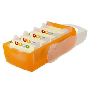 HAN Croco Lernkarteibox - DIN A7 quer - orange transluzent