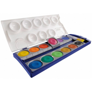 Pelikan Deckfarbkasten 735K/12 - 12 Farben - Deckweiß