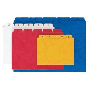 Pagna Leitregister Karton, A-Z, A5, blau, 25 Karten