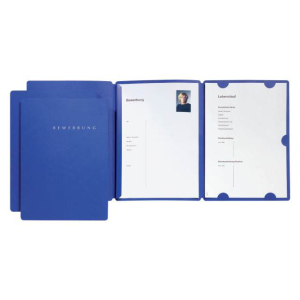 Pagna Bewerbungsmappe Select Basic 3tlg. blau