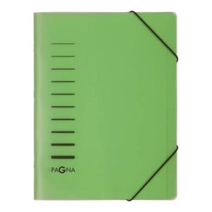 Ordnungsmappe 6-teilig m.Eckspanner grün