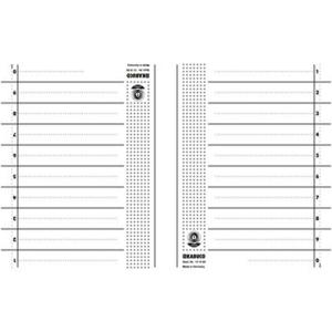 KABUCO Trennblätter - 24 x30 cm - DIN A4 - chamois -...