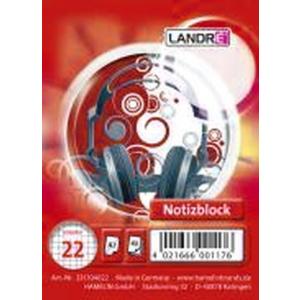 Landré Notizblock OFFICE, mit Spirale, A7,...