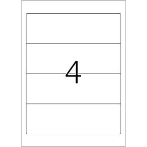 TopStick 8722 Etiketten - 192 x 61 mm - weiß - 400...