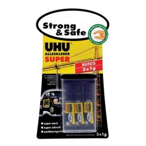UHU Alleskleber SUPER Strong&Safe 3x1g