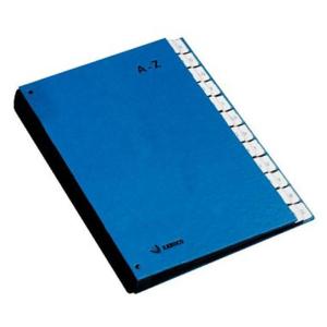 KABUCO Pultordner, 24 Fächer A-Z, blau