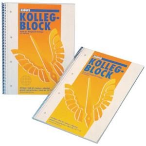 KABUCO Collegeblock kariert - 4-fach gelocht - DIN A4 -...