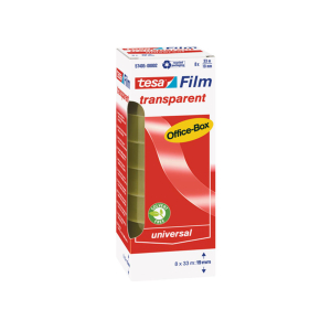 tesa tesafilm Office Box - 33 m x 19 mm - transparent - 8...