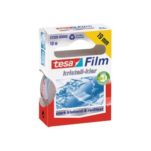 tesa tesafilm Kristall-Klar - 10 m x 19 mm - transparent