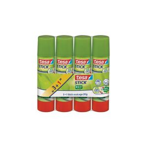 tesa Stick ecoLogo Klebestift - Inhalt 20 g - 3+1 Extra -...