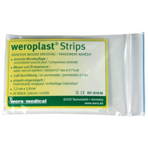 WERO-MEDICAL Pflaster-Strips weroplast, 6x10cm