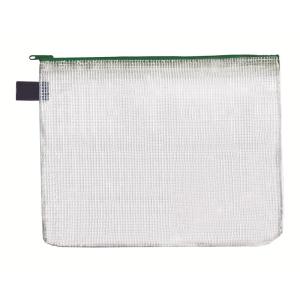 FolderSys Vielzweck-Beutel, B4, Zipp grün, transparent