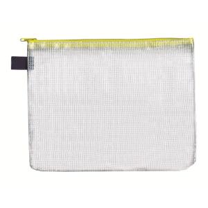 FolderSys Vielzweck-Beutel, A5, Zipp gelb, transparent