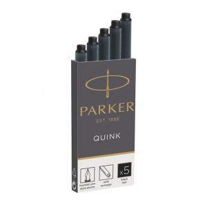Parker Tintenpatrone Quink Z44, PG=5ST, schwarz