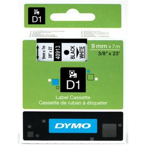 Dymo D1-Schriftband - 9mm x 7m - schwarz auf weiß