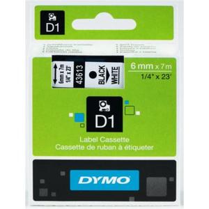 Dymo D1-Schriftband Kunststoff, laminiert, 7 m x 6 mm,...