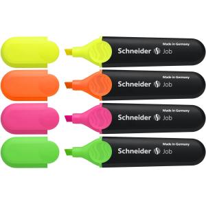 Schneider Textmarker Job sortiert 4 Stück