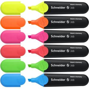 Schneider Textmarker JOB 150 6 Stück sortiert