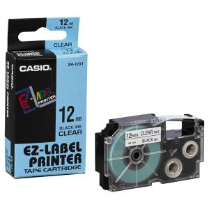 Casio Schriftband - XR-12X - schwarz-transparent