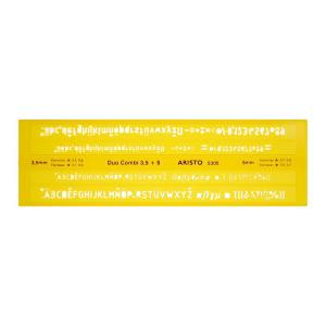 Aristo Schriftschablone DUO-COMBI 3,5-5,0mm