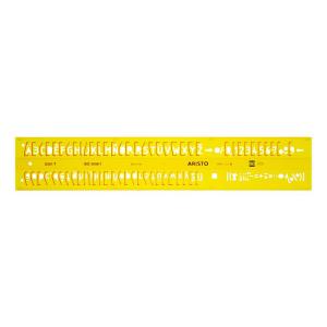 Aristo Schriftschablone - 3,5mm - gerade - Typ B