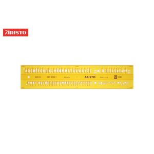 Aristo Schriftschablone - 5,0mm - gerade - Typ B
