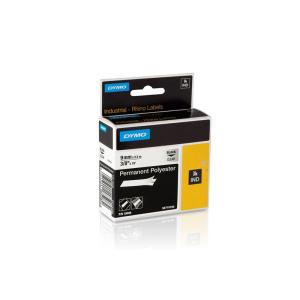 DYMO Band ID1 Poly. perm. 9mm/5,5m schwarz/transp.