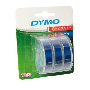 Dymo Prägeband PVC 9mmx3m, 3er Blister blau