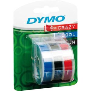 Dymo Prägeband PVC 9mm x 3m , 3 Stück